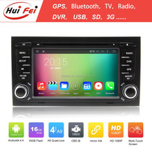 1080P Support 3G WIFI Bluetooth Radio Car DVD Built-in Car GPS For Audi A4 HuiFei Brand Android Car DVD Player