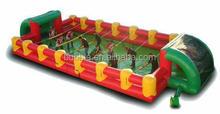 inflatable foosball game, human football/foosball pitch, human foosball court