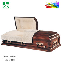 2015 Trade assurance American style real wood funeral casket