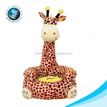 New arrival OEM Customed Soft plush animal giraffe baby sofa chair for Promotional Gift
