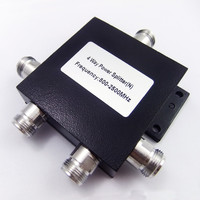 4 Way N Female 800-2500MHz RF Micro Strip Power Splitter