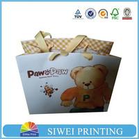 2015 Hot sale wholesale custom cheap decorative handmade paper gift bags