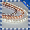 AAA 9-10mm Round freshwater pearl Promotional Necklace