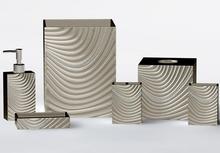 New Fashion Curve Design Resin Bathroom Set Accessories