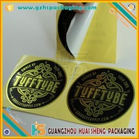 Round Gold Silver Bronze Stickers