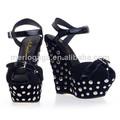2014 Comercio al por mayor dama sandalia tacón alto zapatos elegantes sandalias para la mujer