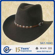 Sombrero vaquero bloqueado 100% de fieltro de lana, impermeable, estilo campestree