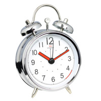 Small metal table alarm double bell classic basic promotional alarm clock