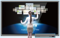 84 inch large size interactive IR multi touch screen display LED smart tv all in one pc