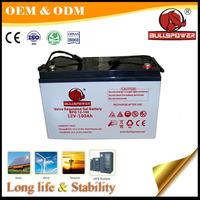 solars panels safe power Deep cycle gel baterias solares baterias 12v 100ah