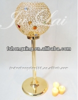 High quality antique crystal gold candelabra wedding table centerpiece