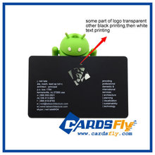 High quality hard plastic business cards with magnetic stripe, PVC name card