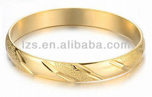 Fashion Stainless Steel New Design 22k Gold Bangle