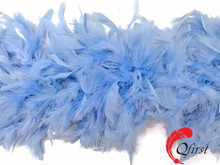 Cheap price dyed light blue turkey chandelle feather boa for women