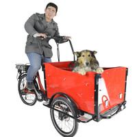 CE Danish bakfiets three wheels electric pedal cargo work tricycle for selling