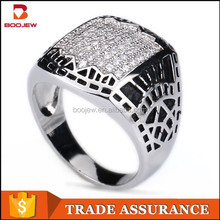 latest silver finger ring designs white cz stone silver ring design for man