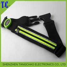 Running waist belt with led light sport belt for out door sports