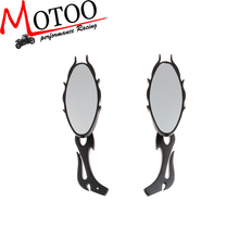 Motoo - Fire shapes Aluminum CNC motorcycle Rear Side mirror For honda yamaha most motorcycle