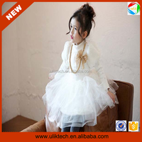 Newest kids spring collection fashion spring dress for girls (Ulik-A0216)