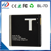 Made in china high capacity general cell phones battery for TECNO BL-7D