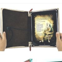PU leather book type laptop case