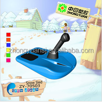 Plastic snow luge for kids