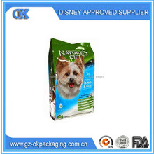 stand up pet food bag with zipper/Colorful printed stand up pet food bag with zipper, high quality dog food package bag