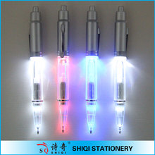 Promotional plastic color flashlight pen