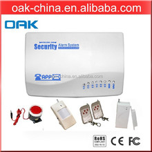 GSM alarm system can support 4 Wired and 81 wireless defence sensor