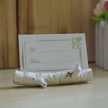 New Arrival Birch Place Card Holder wedding party favor supplies