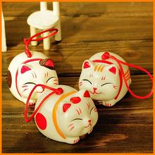 zakka ceramic crafts ceramic wind chimes Japanese cartoon cat creative home ornaments wedding gifts