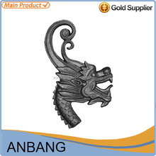 Alibaba express wrought iron cast dragon for stair decoration