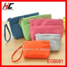 vintage canvas cosmetic bag cheap wholesale pencil case with double zipper