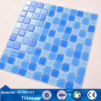 bright color decorative glass pool mosaic tile manufacturer
