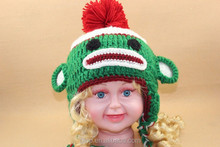 Baby kids animal crochet hat handmade winter children knitted hat