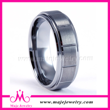 Flat Brushed Matte Tungsten Jewelry in Guangzhou for Sale