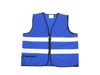 EN471 high visibility blue reflective vests with reflective tape