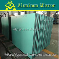 Aluminum Mirror, from 3mm to 6mm thick, max size 2440 x 3660mm