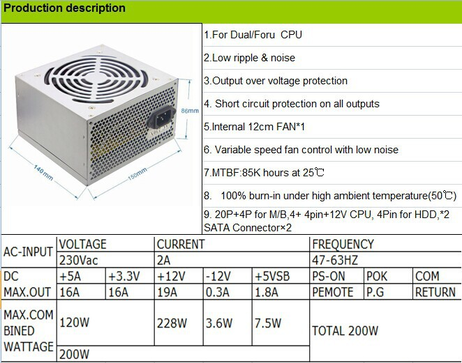 Computer Power Supply Unit/pc Power/mini Smps Power Supply - Buy ...