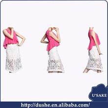 usake guipure swiss voile lace fabric ladies white 100% chiffion women pretty skirts summer ladies skirts