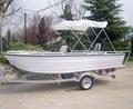 Diseño de 2014, bote pesquero de 14 pies, bote pequeño de aluminio a la venta