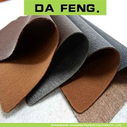 Denim fabric Backing/Sofa Leather foaming car seat cover colorful pu synthetic leather
