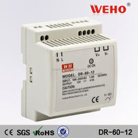 Factory direct sales 60w single output DIN Rail power 150v dc power supply