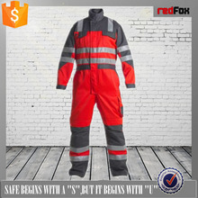 high quality coverallyellow reflective safety coverall100% polyester red pvc safety coverall