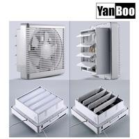 Wall mounted ventilation exhaust fan have reversive motor