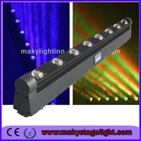 WLED 1-4 New 8 pcs 4 IN 1 RGBW (WHITE) 10W LED linear pixel beam 8x10w rgbw dmx 4in1 moving head pixel bar