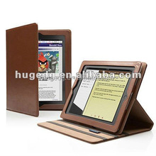 Customized decorative book style distressed PU coated leather of laptop case