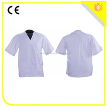 Summer hospital workwear white short nurse uniform