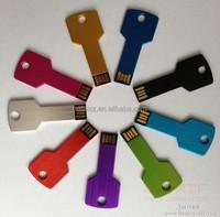 Key shape 8GB 16GB 32GB 64GB metal usb flash drive pen drive pendrive U disk Thumb memory stick multiple colours free shipping