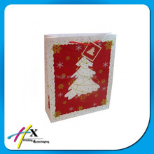 Guangzhou factory price christmas tree kraft paper bag